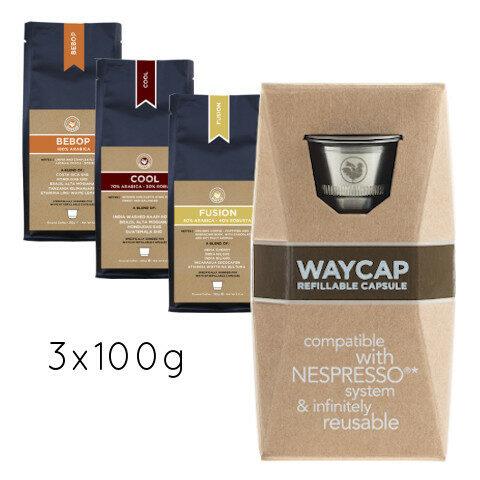 WayCap Basic Trio 100 - 1 capsule + 3 coffee 100g