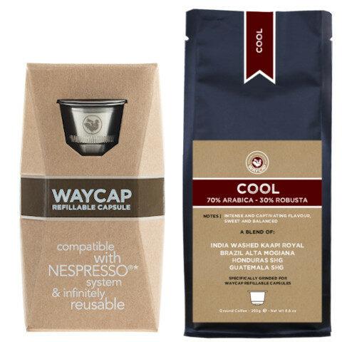 WayCap Basic Cool - 1 capsule + coffee 250g
