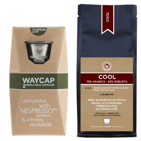 WayCap Complete Cool - 2 capsules + coffee 250g